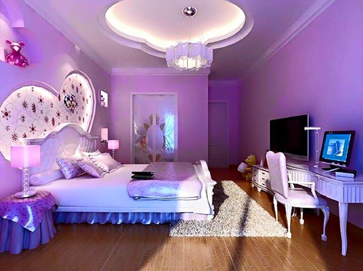 Nên gam màu tím cho phòng ngủ, tránh dùng màu hồng
