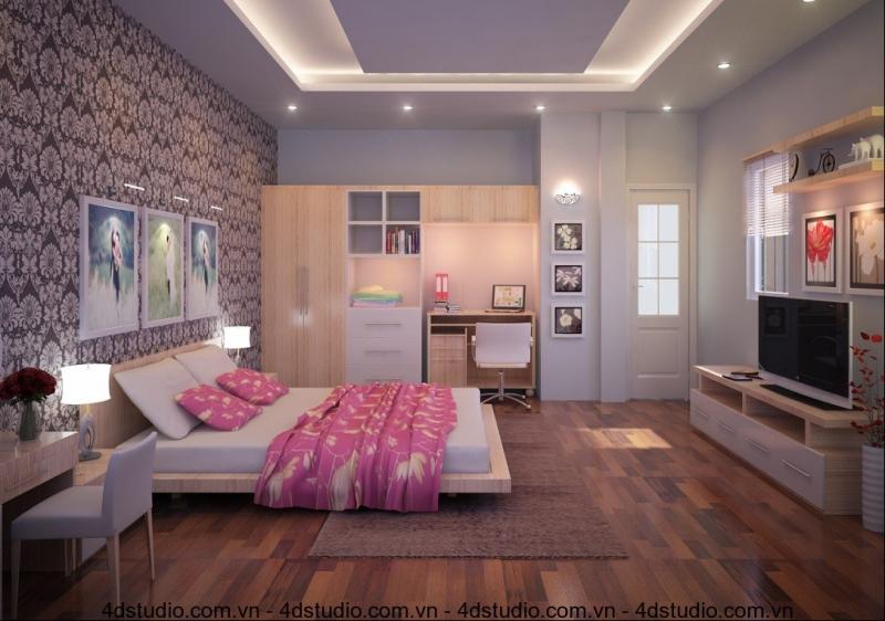 Cửa phòng ngủ không nên đối diện của chính ra vào