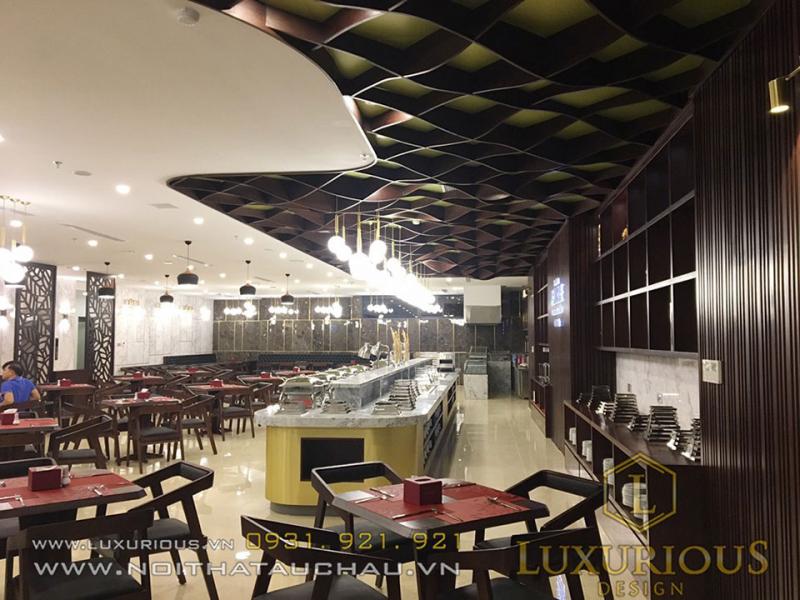 Thiết kế thi công nội thất nhà hàng khách sạn