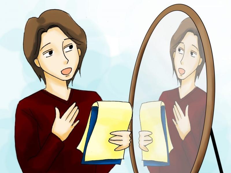 Học tiếng Anh bằng cách luyện tập khẩu hình miệng trước gương