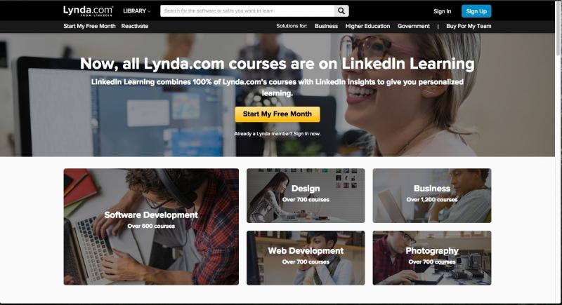 Trang web Lynda