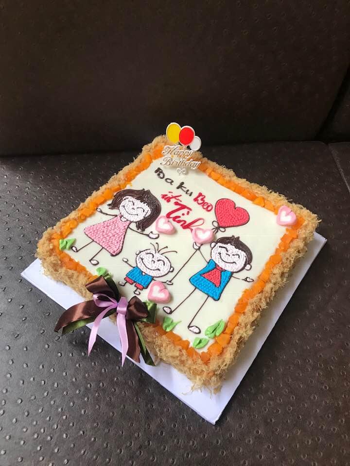 Những chiếc bánh sinh nhật được trang trí rất tinh tế