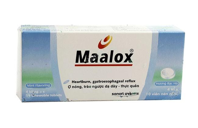 Maalox sẽ ức chế tiêu protid của pepsin