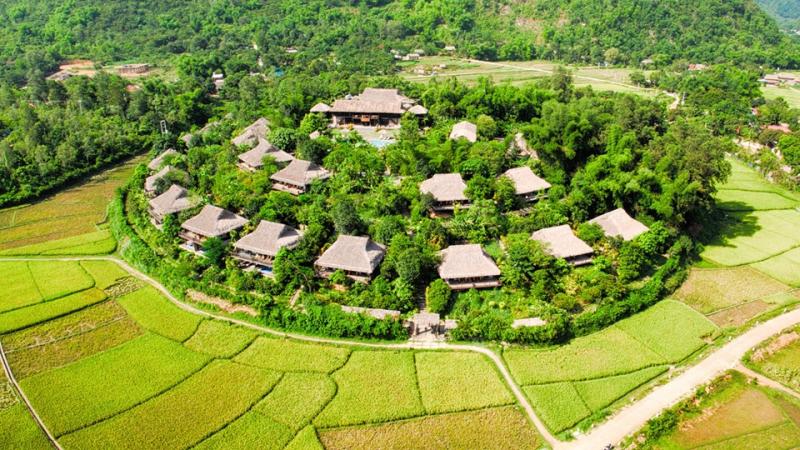 Một Mai Chau Ecolodge Resort xanh tươi
