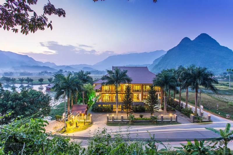 Toàn cảnh Mai Châu Lodge yên bình