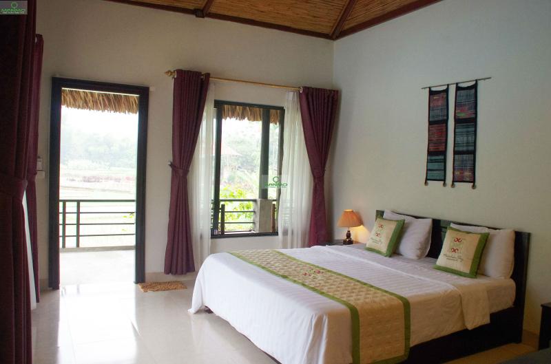 Phòng nghỉ thoáng mát, sạch sẽ tại resort