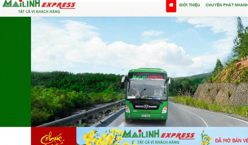 Website Mailinhexpress.vn
