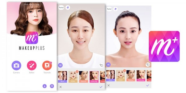 Giao diện của Makeup Plus
