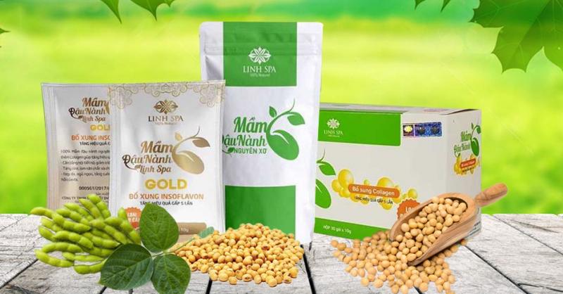 Một số sản phẩm từ mầm đậu nành của công ty Bình An