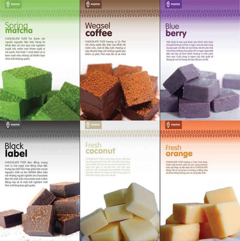 Các mùi vị nama tại Mama Chocolate