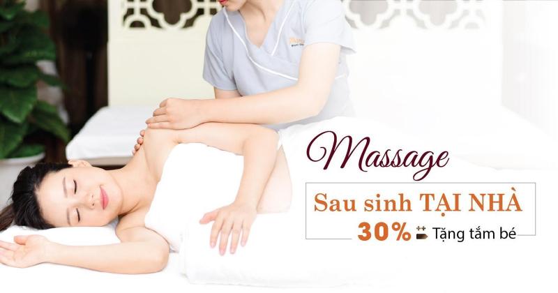 Ưu đãi tắm bé được Mama Maia Spa tặng kèm khi mẹ mua massage sau sinh hoặc massage bầu VIP