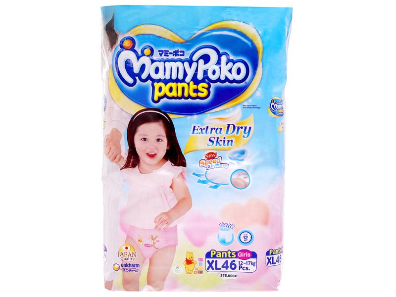 Tã/bỉm quần Mamypoko XXL cho bé gái