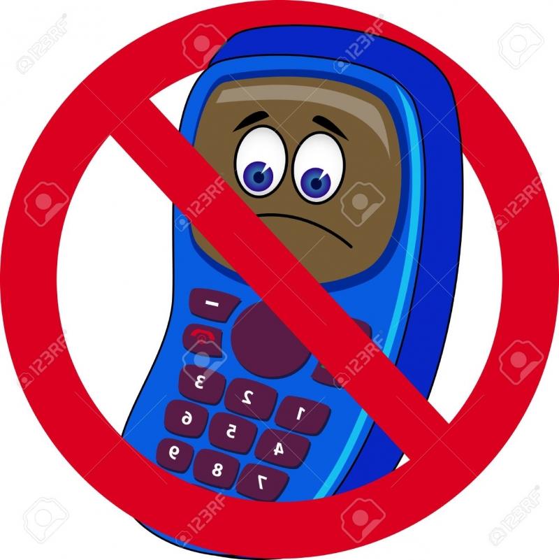 Điện thoại bị cấm mang vào phong thi.