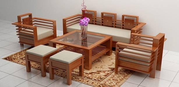 Một bộ bàn ghế phòng khách của Mạnh Hùng.