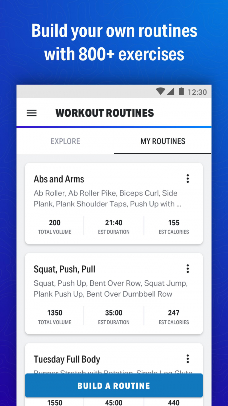 Ứng dụng theo dõi tập luyện Map My FitnessWorkout Trainer