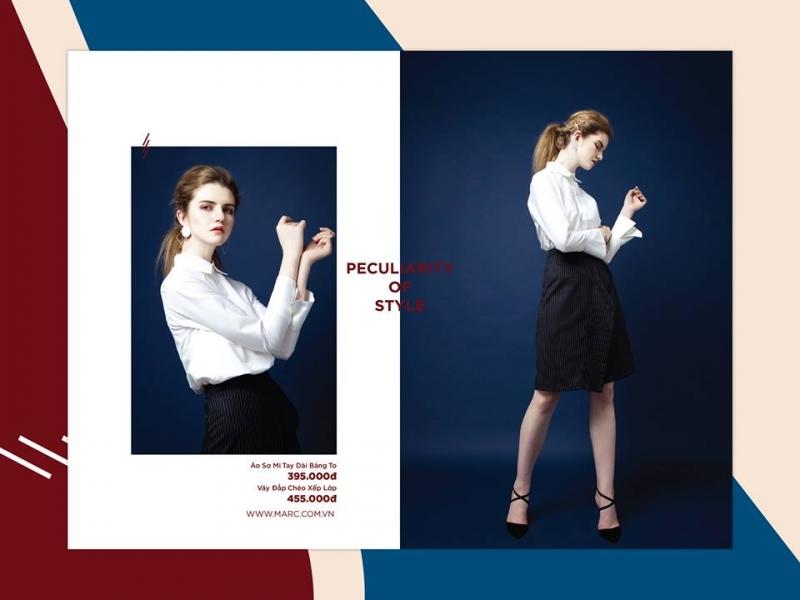 Một set trang phục hơi hướng công sở của Marc Fashion