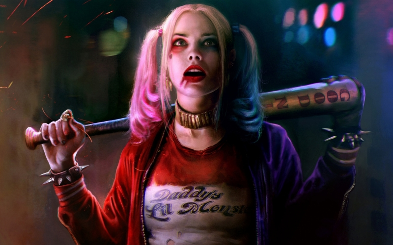 Margot Robbie trong vai Harley Quinn ở phim Suicide Squad