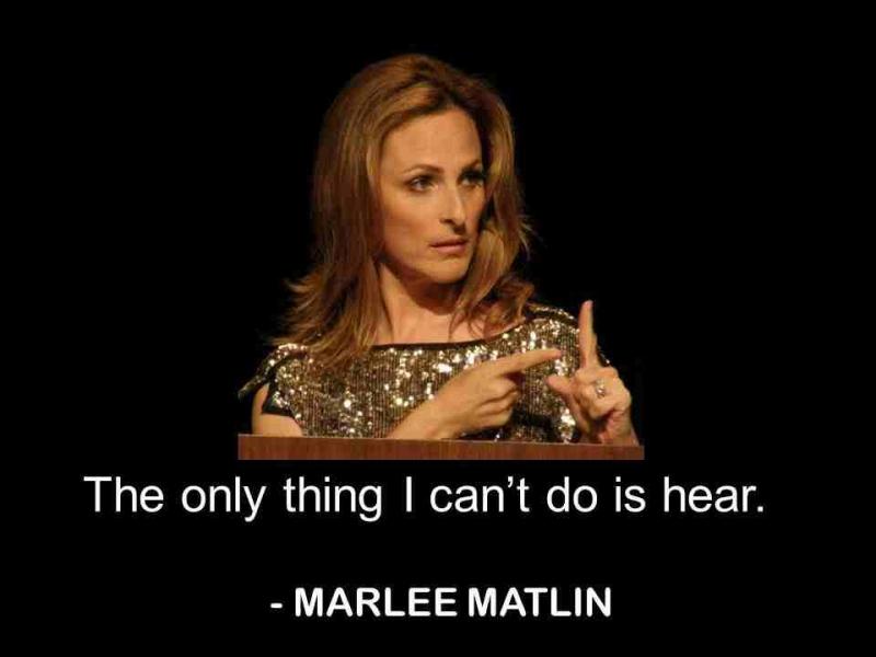 Marlee Matlin đã vượt lên tẩt cả để giàng Oscar khi 21 tuổi.