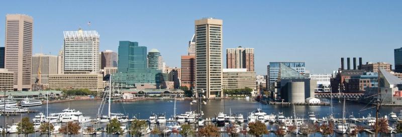 Toàn cảnh thành phố Baltimore thuộc bang Maryland.