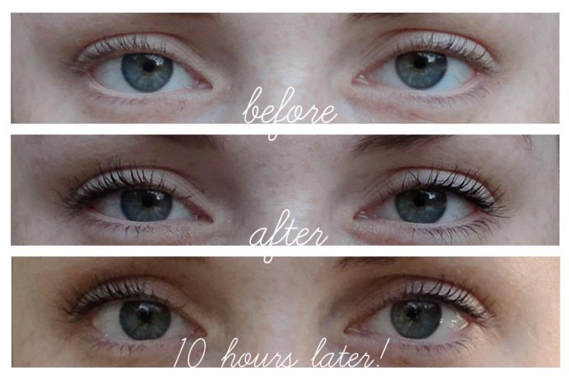 Mascara có khả năng giữ dáng trong hơn 10 tiếng.