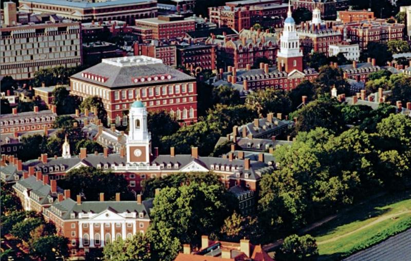 Biểu tượng học thuật của nước Mỹ: Viện Đại học Harvard nằm tại thành phố Cambridge, tại Massachusetts.