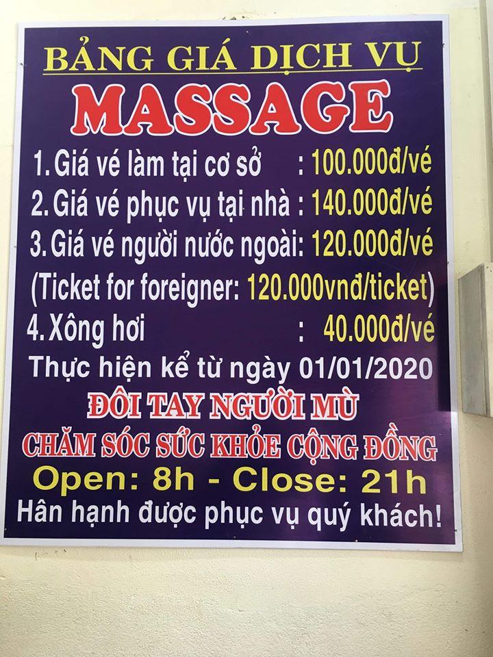 Massage Hội Người Mù Quận Hải Châu