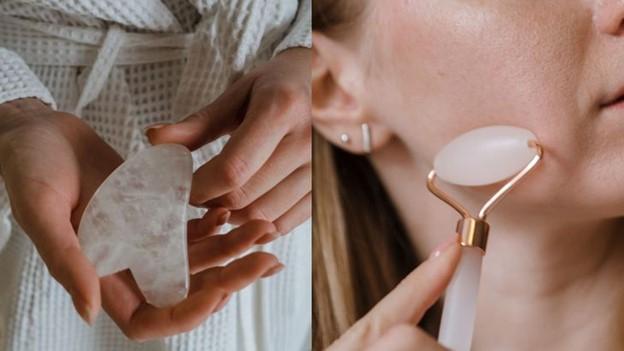 Massage mặt bằng con lăn ngọc bích/gua sha