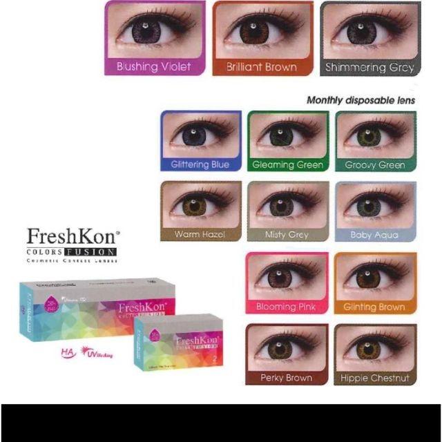 Một số màu lens tại tiệm mắt kính Văn Nhiều
