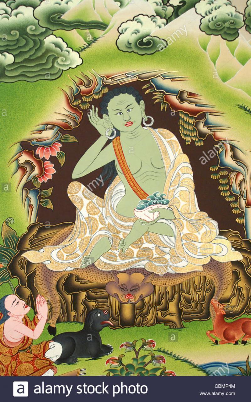 Tôn dung của Đức Đại Thành Tựu Milarepa - Thánh Tăng Tây tạng thế kỷ 11-12