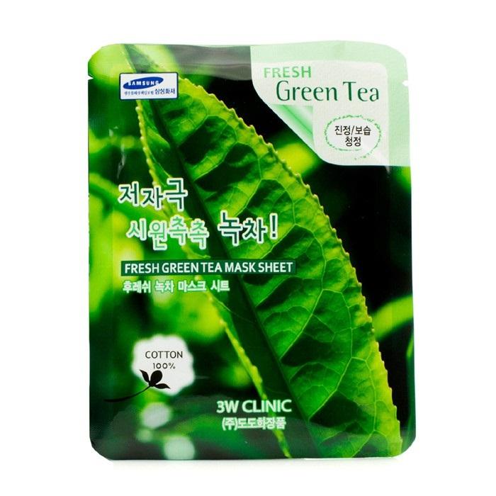 Mặt Nạ Chiết Xuất Trà Xanh 3W CLINIC Fresh Green Tea Mask Sheet