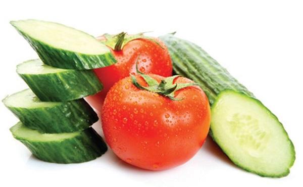 Mặt nạ dưa chuột và cà chua
