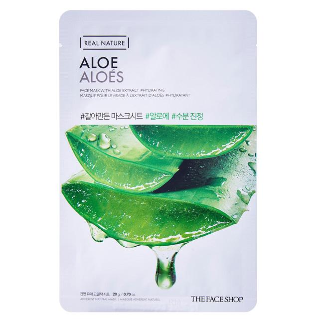 Mặt nạ dưỡng da Hàn Quốc The Faceshop real nature Aloe