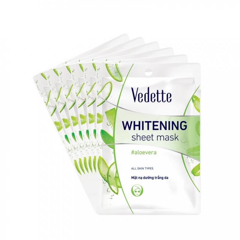 Mặt nạ dưỡng trắng da nha đam Vedette Aloe Whitening Mask
