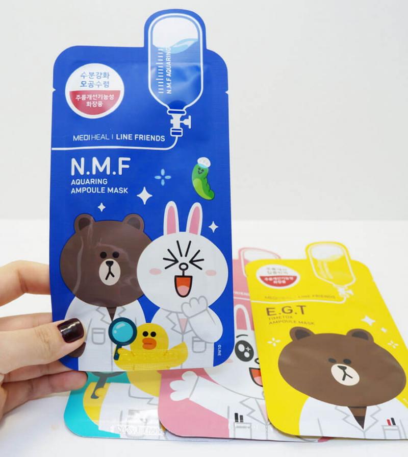 Mặt Nạ Giấy Line-Friends Ampoule Mask Sheet
