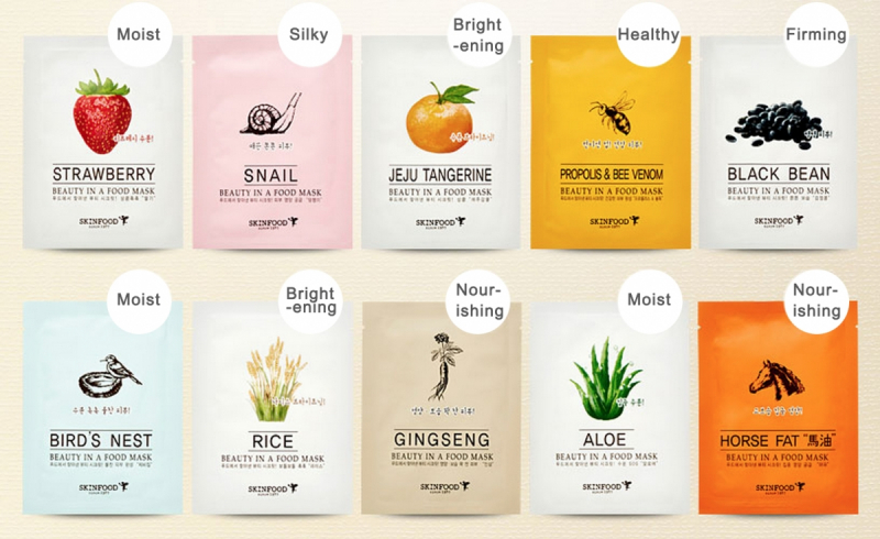 Mặt nạ giấy dưỡng da Skin Food Beauty In A Food Mask Sheet