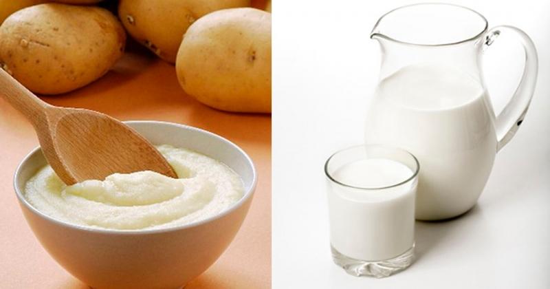 Với mặt nạ khoai tây và sữa tươi, làn da khô sẽ không những được cải thiện đáng kể mà còn trắng dần lên.