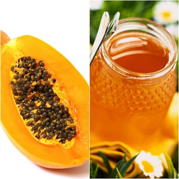 Mặt nạ mật ong và đu đủ