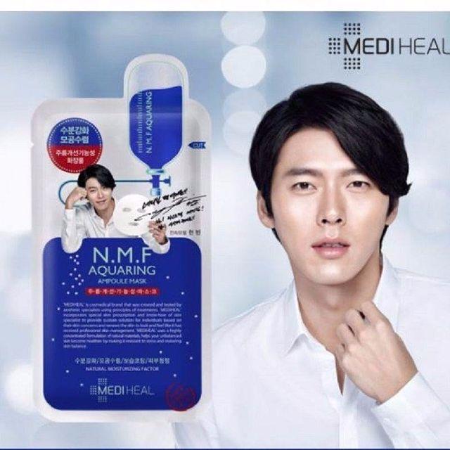 Mặt nạ Mediheal N.M.F Aquaring ampoule mask EX  của Hàn Quốc chứa các dưỡng chất thẩm thấu và nuôi dưỡng từ sâu bên trong, làm cho da khỏe mạnh, săn chắc.