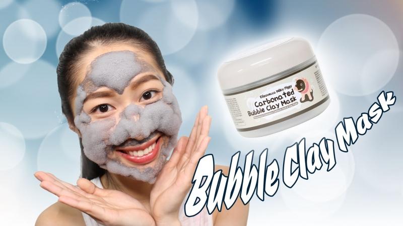Hình ảnh review mặt nạ sủi bọt Elizavecca Carbonated Bubble Clay Mask