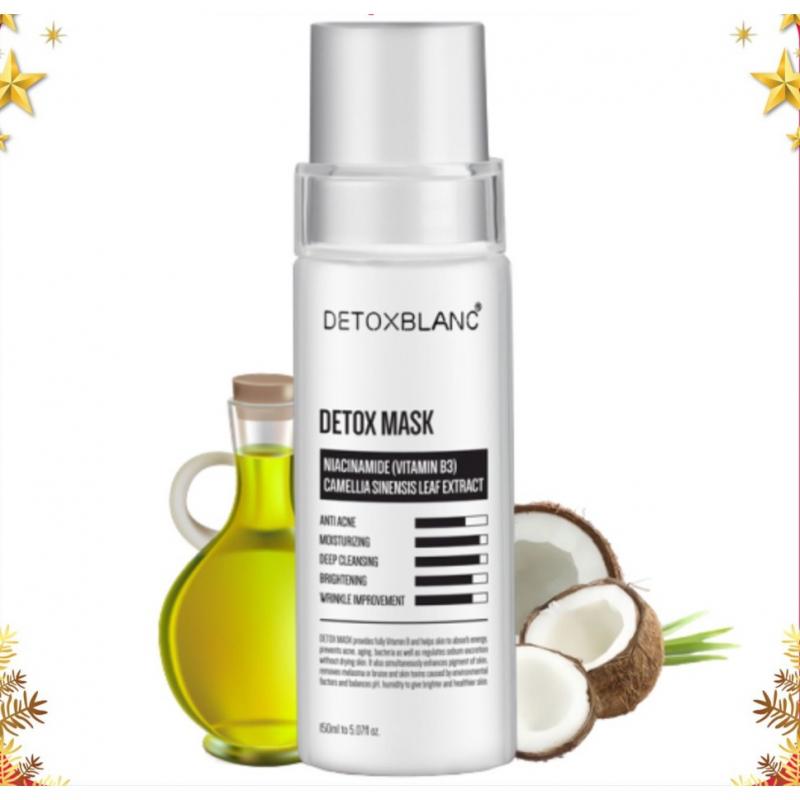Mặt nạ thải độc trắng da than hoạt tính Detox Blanc