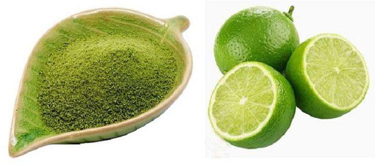 Mặt nạ trà xanh và nước cốt chanh