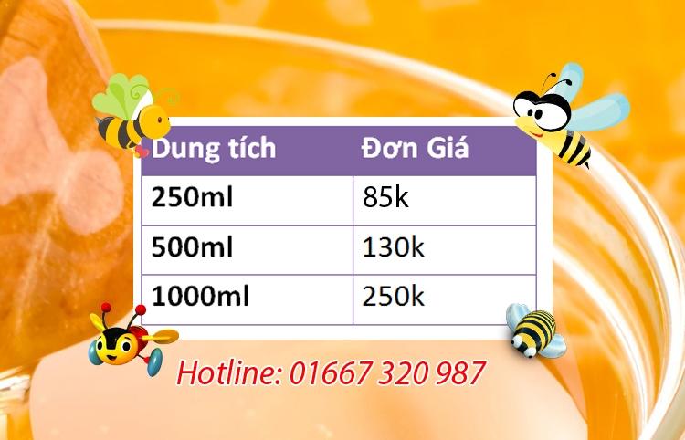 Giá mật ong của MatOngHCM