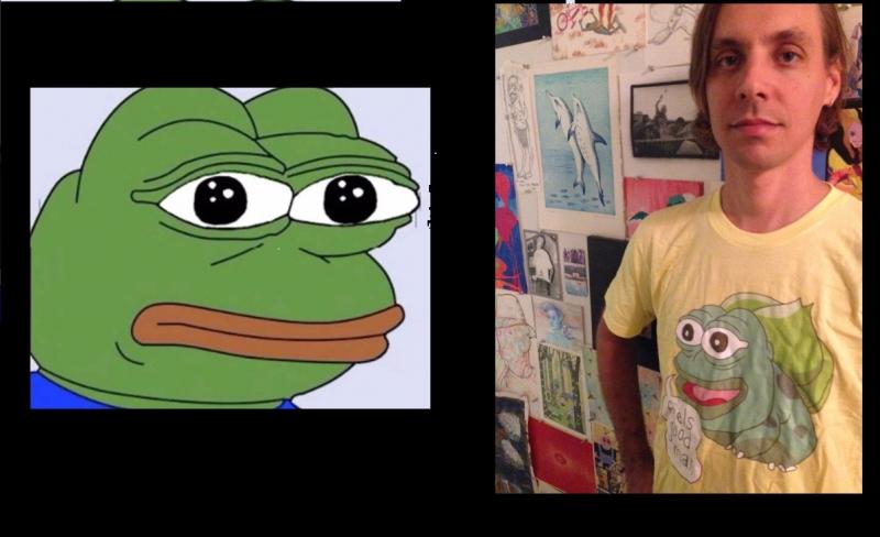 Matt Furie và nhân vật Pepe the Frog nổi tiếng của anh