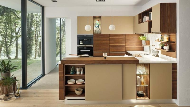 Với mẫu kệ bếp hiện đại đầy đủ tiện nghi này sẽ khiến cho các bà nội trợ thích thú.