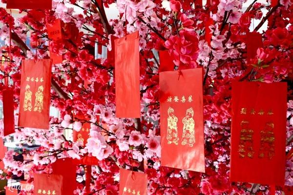 Màu đỏ tượng trưng cho sự may mắn trong năm mới