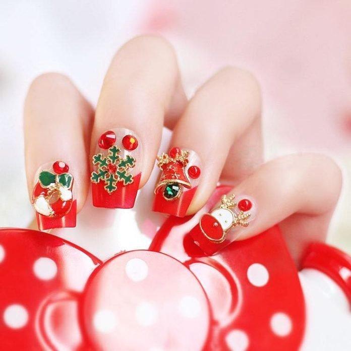 Top 10 Mẫu nail phong cách Giáng sinh đơn giản, đáng yêu