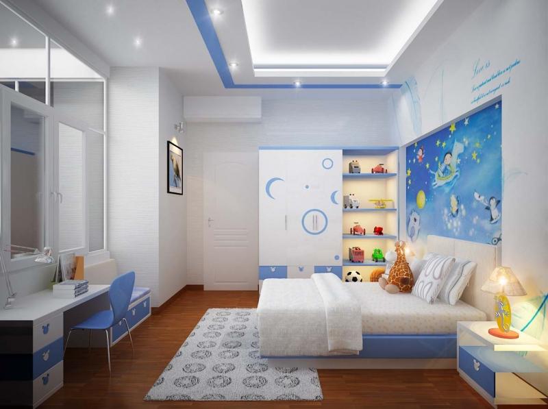 Sử dụng màu sắc giúp tăng năng lượng phong thủy cho phòng trẻ