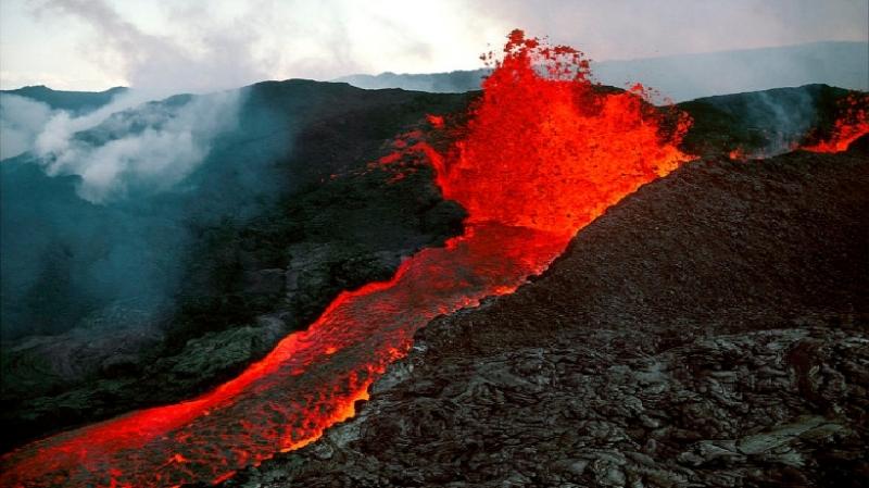 Dòng dung nham tại Mauna Loa