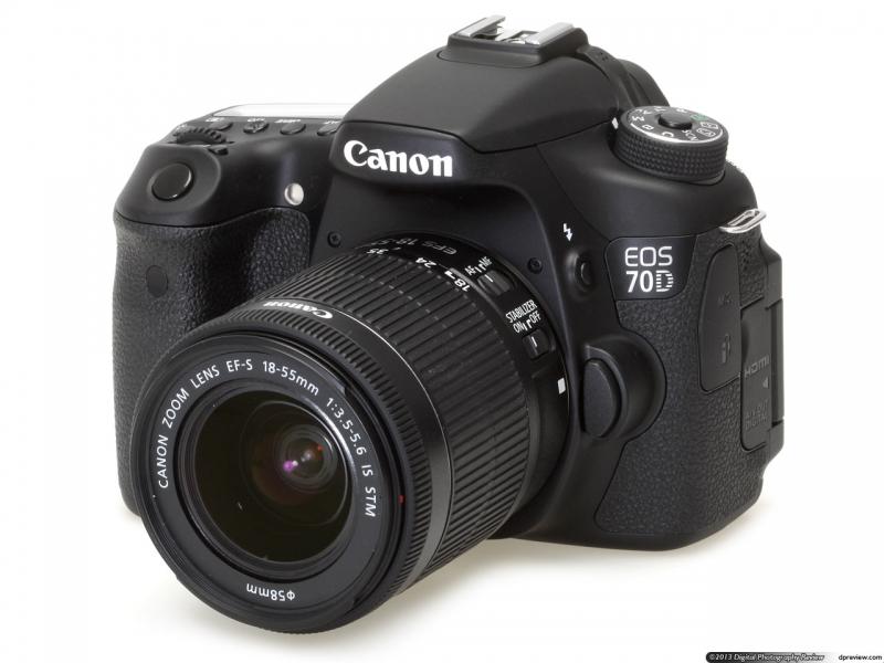 Máy ảnh Canon 70D Và Lens 18-55 STM