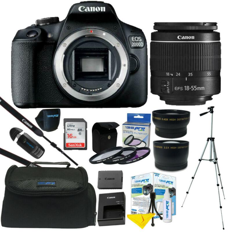 Máy Ảnh Canon EOS 2000D Kit EF-S 18-55 f/3.5-5.6 III